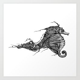 Stallion Of The Sea Art Print