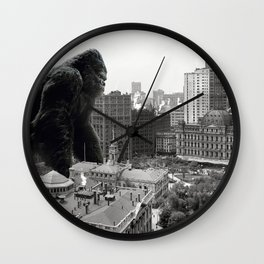 King Kong in New York City 1908 Wall Clock