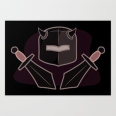 Exile From Ullathorpe - Helmet and Swords Art Print