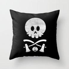 Camp Survival Throw Pillow