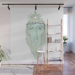 head of Jesus Wall Mural