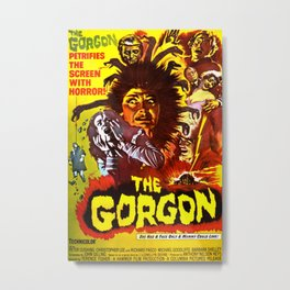 The Gorgon, vintage horror movie poster, 1964, poster Metal Print