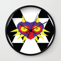 majora Wall Clocks featuring Minimalist Majora by Bradley Bailey