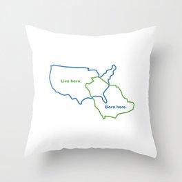 USA and Saudi Arabia Maps Combined Throw Pillow