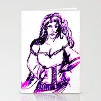 gypsy Stationery Cards featuring gypsy by Art Corner