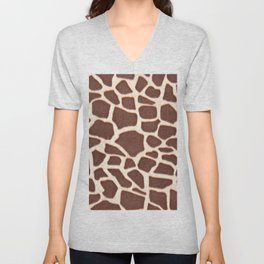 Giraffe Animal Pattern Print Unisex V-Neck