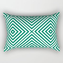 Emerald Elegant Diamond Chevron Rectangular Pillow