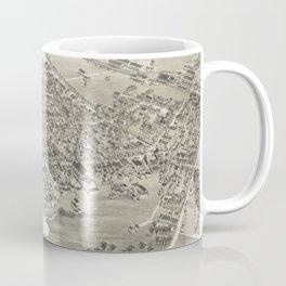 Vintage Pictorial Map of Hackettstown NJ (1883) Coffee Mug