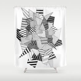 abstract crystal Shower Curtain