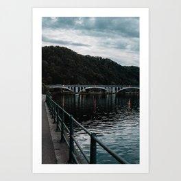 Sunset Brigde Europe Art Print