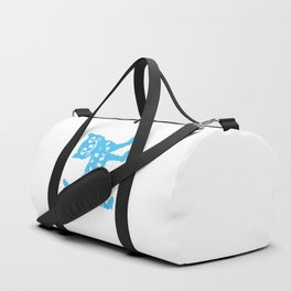 Blue cat Duffle Bag