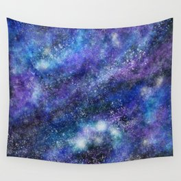 Blue Space Galaxy Wall Tapestry