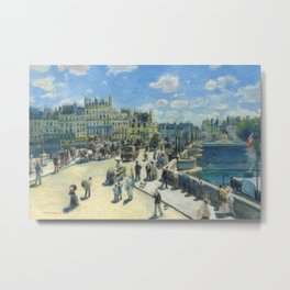 Renoir - Pont Neuf, Paris, 1872 Metal Print