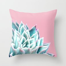 Succulent on Pink Throw Pillow