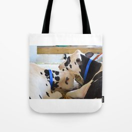 Pair of black and white cows 1 Tote Bag