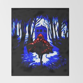 Shadow Light Of Tardis Throw Blanket