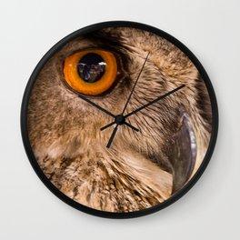 Eagle Owl Close Up Wall Clock