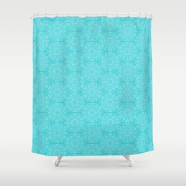 Hexagone Turquoise Shower Curtain