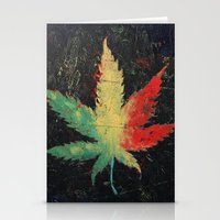 marijuana Stationery Cards featuring Marijuana by Michael Creese
