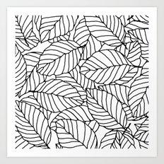 Sweet leafs:  White Art Print
