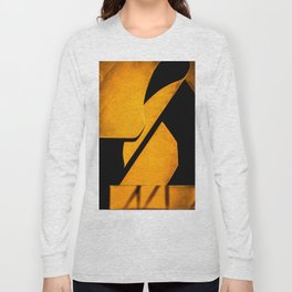 yellow and black Long Sleeve T-shirt