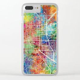 Boulder Colorado City Map Clear iPhone Case