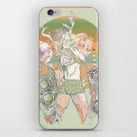 blush iPhone & iPod Skins featuring blush by Cassidy Rae Marietta