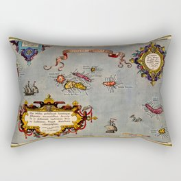 Map Of The Azores 1606 Rectangular Pillow