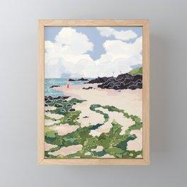 Jeju beach Framed Mini Art Print