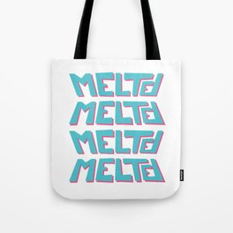 Melted, the solid typography. Tote Bag