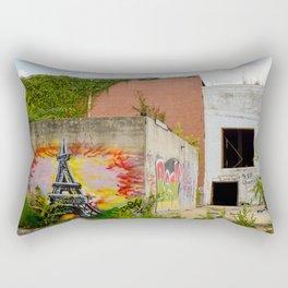Eiffel Tower Grafitti Rectangular Pillow