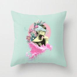 Splashy Dame Throw Pillow