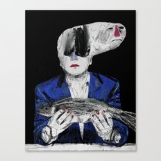 Meditation on a dead fish. 2015. Canvas Print