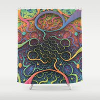creepy Shower Curtains featuring Creepy Crawlers  by Lyle Hatch