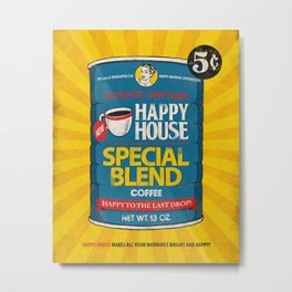 Happy House Metal Print