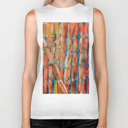 Coral Night of Sugarcane Biker Tank