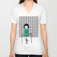 writing V-neck T-shirts featuring Drawing and Writing by Anna illustrates