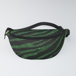 Ripped SpaceTime Stripes - Glitter Green Fanny Pack