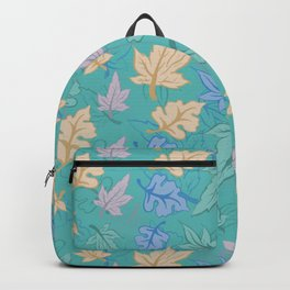 Green Turquoise Pastel Fall Pattern Backpack