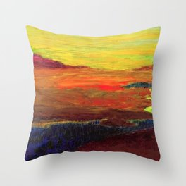 The Inland Marshes (A Seaside Sunset) landscape painting by Emil Nolde Throw Pillow
