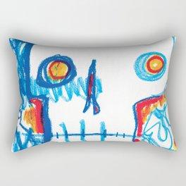 Skull of the Insomniac Rectangular Pillow