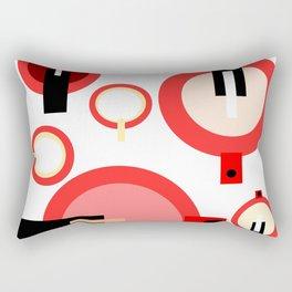 Teapots and mugs Rectangular Pillow