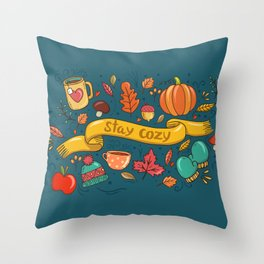 Autumn Is The Time To Stay Cozy Throw Pillow