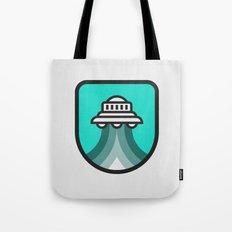 Alien Spacecraft Tote Bag