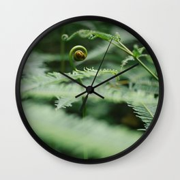 The Green Fern Wall Clock