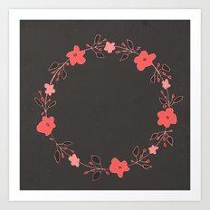 coral blossoms Art Print