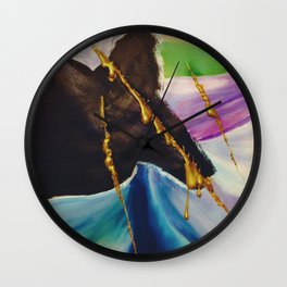More Beautiful For Being Ripped Apart Wall Clock