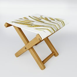 Golden wheat painting Folding Stool
