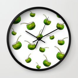 White coconut drink Wall Clock