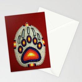 Beaded Bear Track Stationery Cards